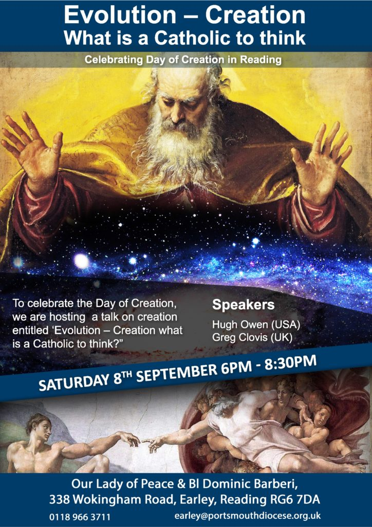 Evolution - Creation - What is a Catholic to think - Celebrating Day of Creation in Reading